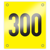 Example Vinyl Rider Numbers yellow background 160mm x 180mm
