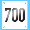 Example Vinyl Rider Numbers white background 160mm x 180mm