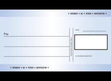 """MEDIUM STANDARD CORREX PRESENTATION CHEQUE SIZE 18"""" X 24"""""""