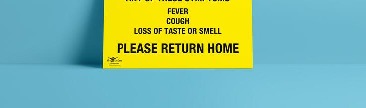 Coronavirus Informational Correx signs